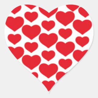 Coeurs rouges pour Valentine - Sticker Cœur