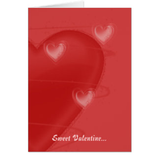 Coeurs une carte de Valentine de flottement
