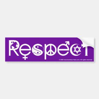 Coexistent avec le respect - la gentillesse et la autocollant de voiture