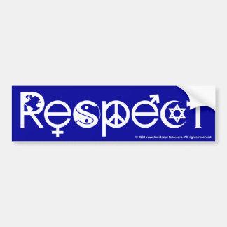 Coexistent avec le respect - la gentillesse et la autocollant pour voiture