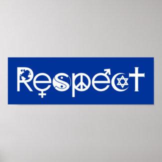 Coexistent avec le respect - la gentillesse et la poster
