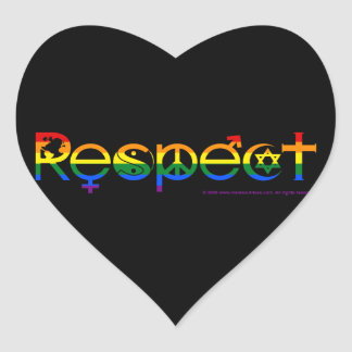 Coexistez avec gay pride de respect sticker cœur