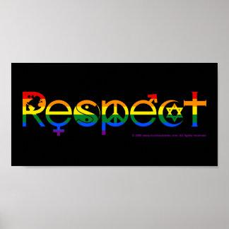 Coexistez avec gay pride du respect LGBT Poster
