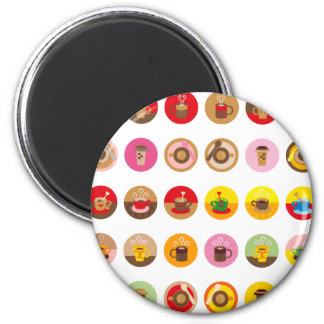 CoffeeBreakAll Magnet Rond 8 Cm
