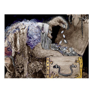 Coffre au trésor Troll Carte Postale