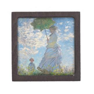 Coffret A Bijoux Femme de Claude Monet | avec un parasol