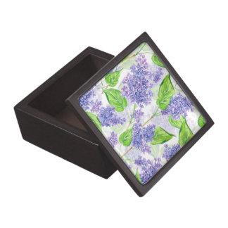 Coffret A Bijoux Fleurs de lilas d'aquarelle
