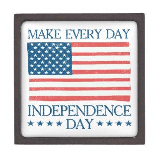 Coffret A Bijoux Jour de la Déclaration d'Indépendance 4 juillet