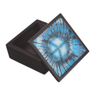 Coffret A Bijoux Paix teinte nouée bleue