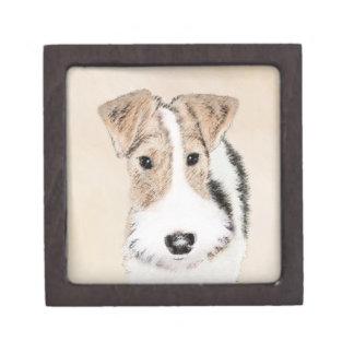Coffret A Bijoux Peinture de Fox Terrier de fil - art original