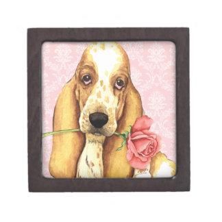 Coffret Cadeau De Première Qualité Basset rose de Valentine