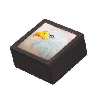 Coffret Cadeau De Première Qualité Boîte-cadeau illustrée colorée d'oiseau - Eagle