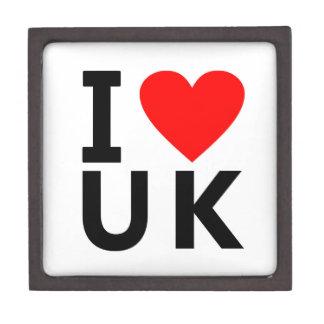Coffret Cadeau De Première Qualité J'aime le pays du Royaume-Uni comme le voyage de
