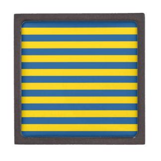 Coffret Cadeau De Première Qualité Les lignes de rayures de drapeau de la Suède