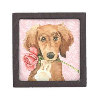 Coffret Cadeau De Première Qualité Valentine Saluki rose