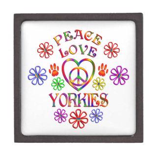 Coffrets Cadeaux De Première Qualité Amour Yorkies de paix