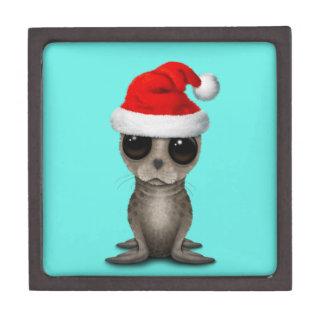Coffrets Cadeaux De Première Qualité Bébé phoque utilisant un casquette de Père Noël