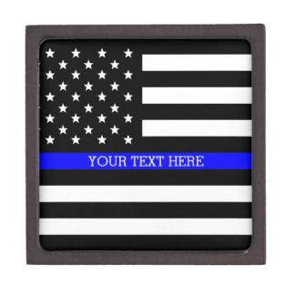 Coffrets Cadeaux De Première Qualité Blue Line mince - coutume personnalisée de drapeau