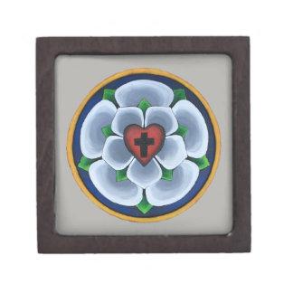 Coffrets Cadeaux De Première Qualité Boîte-cadeau chrétienne rose du joint de Luther