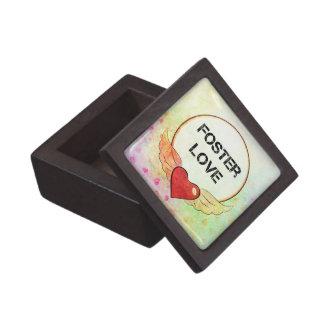 Coffrets Cadeaux De Première Qualité Coeur adoptif d'aquarelle d'amour