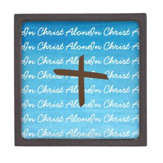 Coffrets Cadeaux De Première Qualité En seul Christ bleu, blanc et boîte à bijoux de