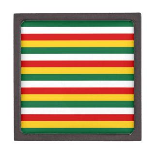Coffrets Cadeaux De Première Qualité Le drapeau du Surinam barre des lignes motif