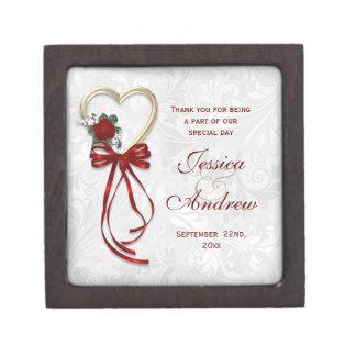 Coffrets Cadeaux De Première Qualité Romantique se sont levés, le coeur d'or et le