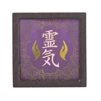 Coffrets Cadeaux De Première Qualité Symboles curatifs de Reiki avec le lotus sur le