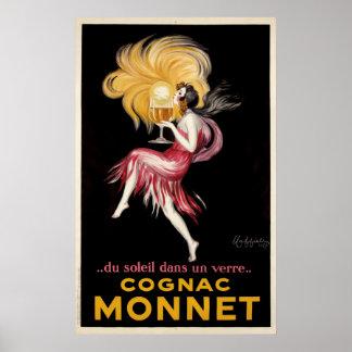 Cognac Monnet par le poster vintage de Cappiello