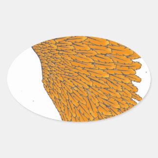 coiffe indienne 1 sticker ovale