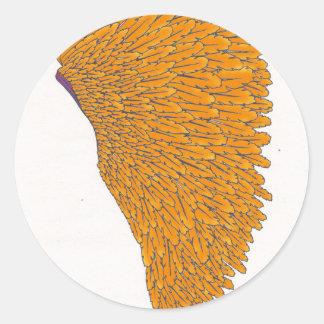 coiffe indienne 1 sticker rond