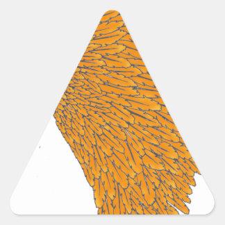 coiffe indienne 1 sticker triangulaire
