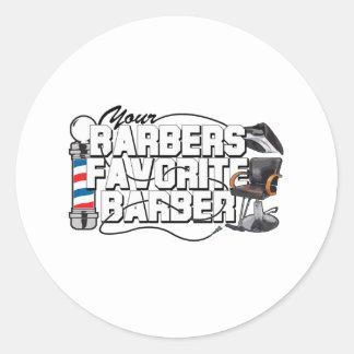 Coiffeur de favori de coiffeurs adhésifs ronds