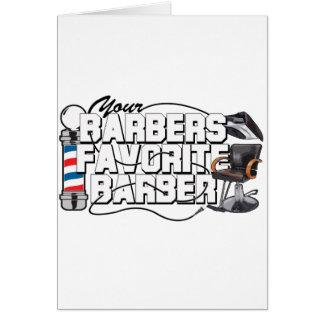 Coiffeur de favori de coiffeurs cartes