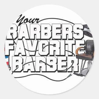 Coiffeur de favori de coiffeurs sticker rond