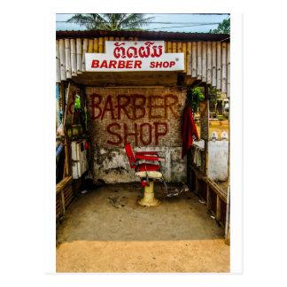 """Coiffeur """"hutte"""" au Laos Carte Postale"""