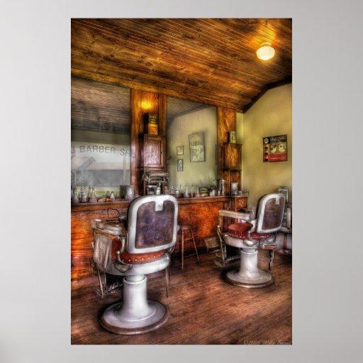 Coiffeur le salon de coiffure ii posters zazzle - Le salon de coiffure ...