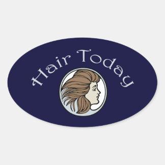 Coiffeur Sticker Ovale