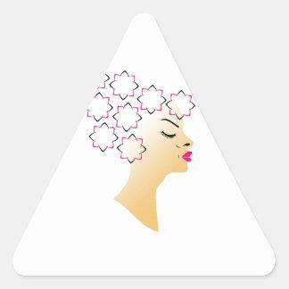 Coiffure florale sticker triangulaire