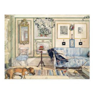 Coin confortable par Carl Larsson Cartes Postales