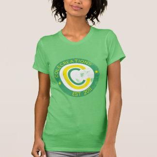 Colecreations a établi la pièce en t (vert et jaun t-shirt