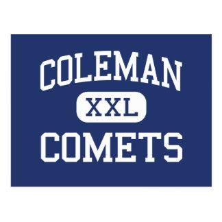 Coleman - comètes - lycée - Coleman Michigan Carte Postale