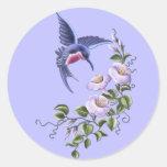 Colibri avec des fleurs 2 autocollants