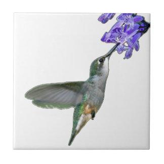 Colibri avec la lavande de Mona Carreau En Céramique