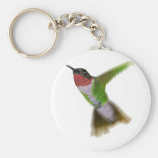 Colibri de vol porte-clé rond