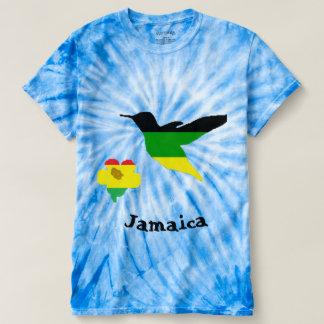 Colibri et fleur dans la couleur jamaïcaine et de t-shirt