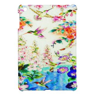Colibri-Rose-Fleurs Étuis iPad Mini