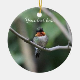 colibri Rubis-throated Ornement Rond En Céramique