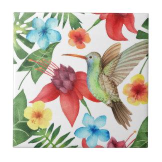 Colibri tropical petit carreau carré