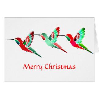 Colibris colorés par vacances carte de vœux